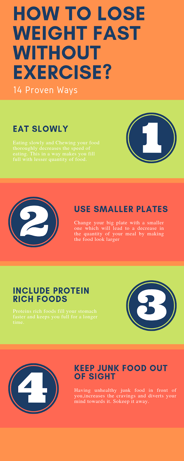 How to lose weight fast without exercise?-Infographic 1- 4