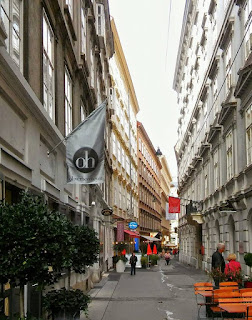 Uliczka w centrum Wiednia