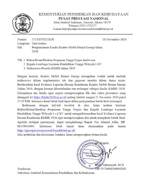 pengumuman finalis kontes mobil hemat energi kmhe tahun 2020 pdf tomatalikuang.com