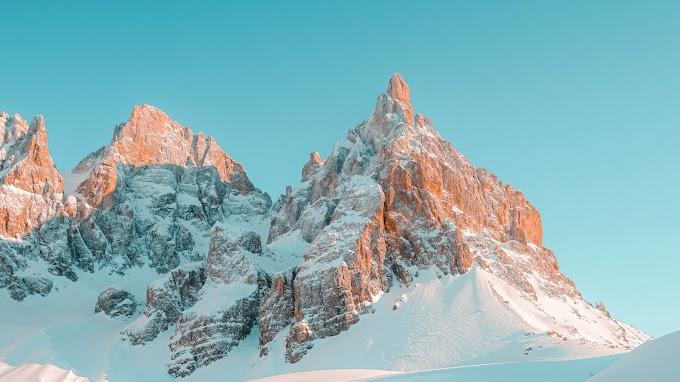 Papel de Parede para PC montanha com Neve