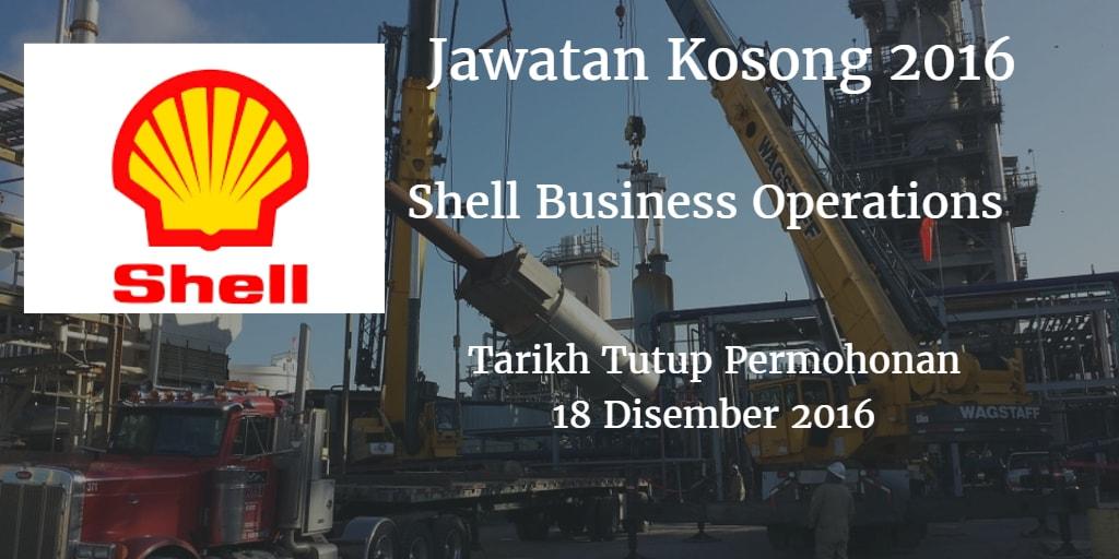 Jawatan Kosong Shell Business Operations 18 Disember 2016
