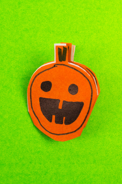 how to make cute halloween cutout kirigami- skull, pumpkin, and black cat