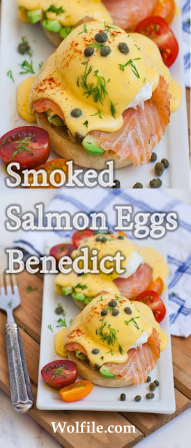 Smoked Salmon Eggs Benedict Recipe #Salmon