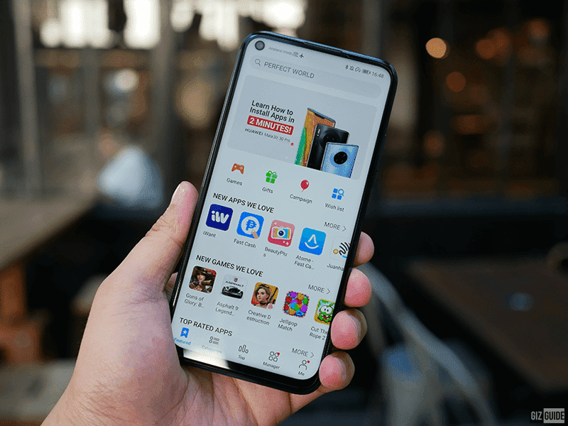 nova 7i with Huawei's own app store, the fast-growing AppGallery