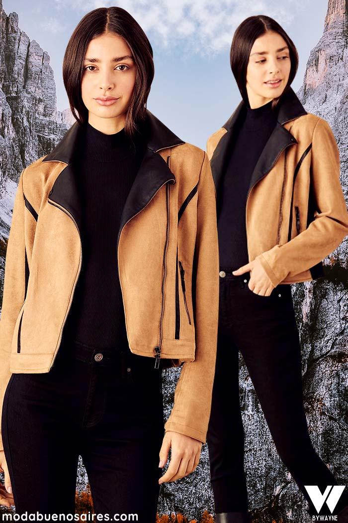 Moda invierno 2021 camperas poleras y pantalones de moda mujer