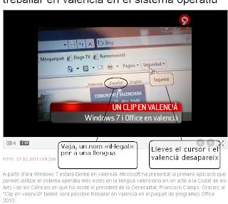 Valencià submergit; español prepotent