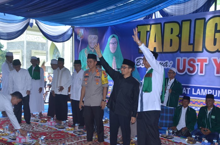 Ustad Yusuf Mansyur hadir di Acara Tabliq Akbar yang diadakan Pemkab Lampura