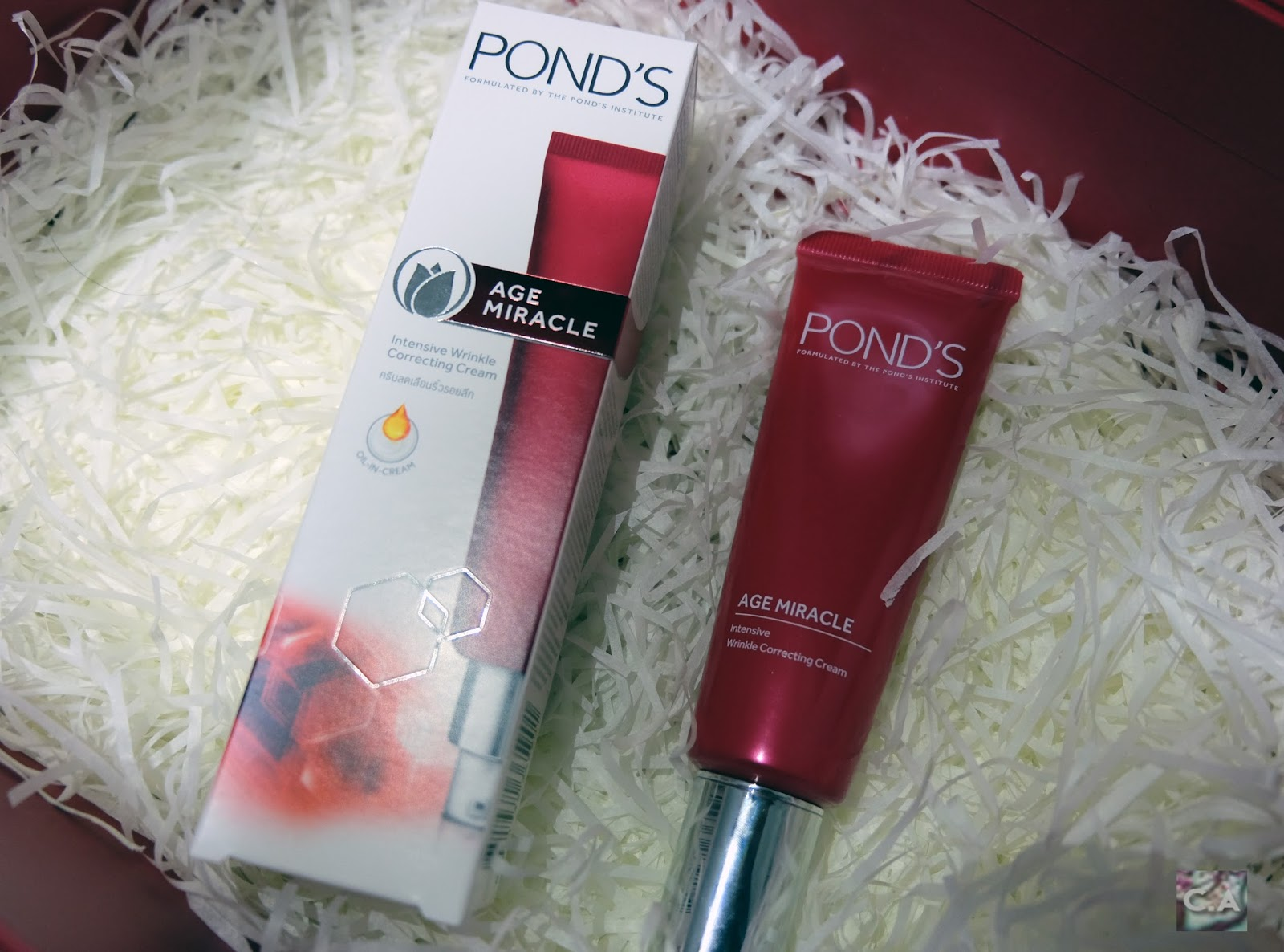 Pond's Age Miracle Intensive Wrinkle Correcting Cream Curitan Aqalili
