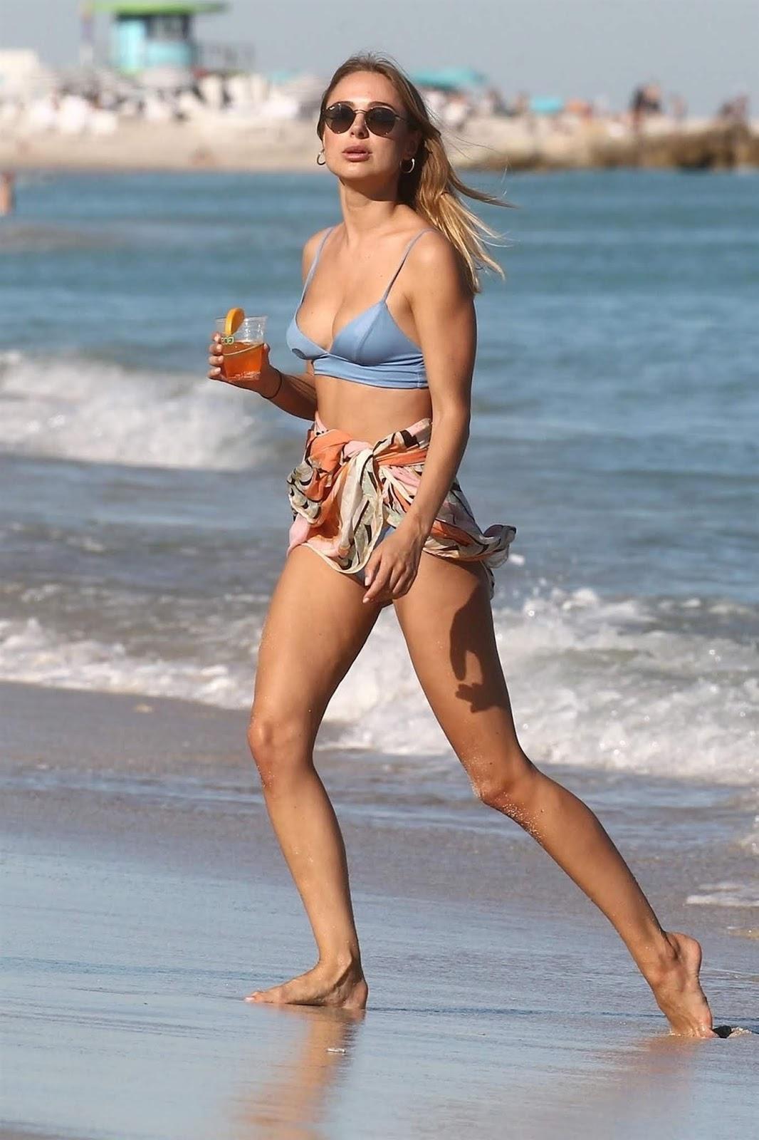 Kimberley Garner in a bikini at Miami Beach - 01/29/2019