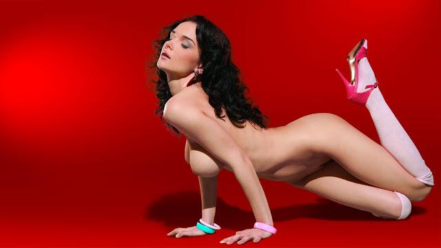 sexy sfondo con ragazza nuda