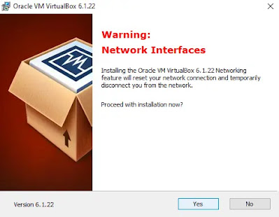 Warning Network Instalation