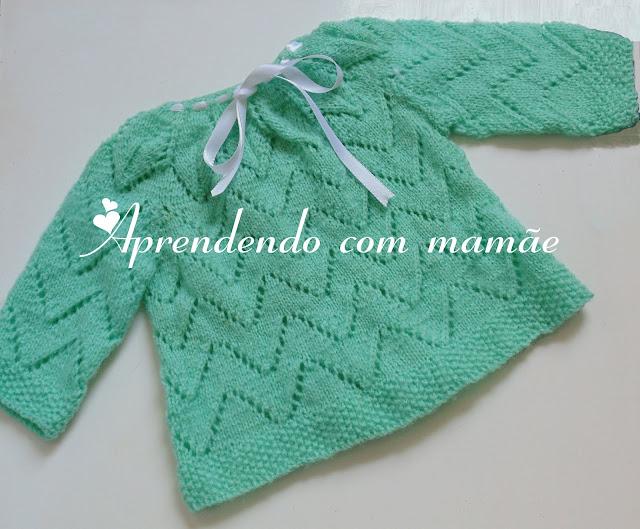 tapa fralda em tricô, tricô, lã Fiorella Minerva, casaquinho de bebê, casaco de tricô