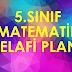 5.sınıf Matematik Telafi Planı