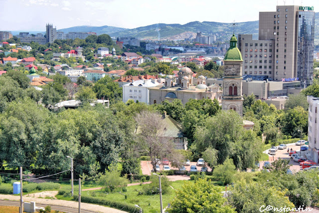 Vedere din turnul Goliei spre zona de sud-est a orașului Iași - blog FOTO-IDEEA