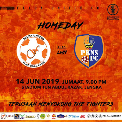Live Streaming Felda United vs Pkns FC Liga Super 14.6.2019