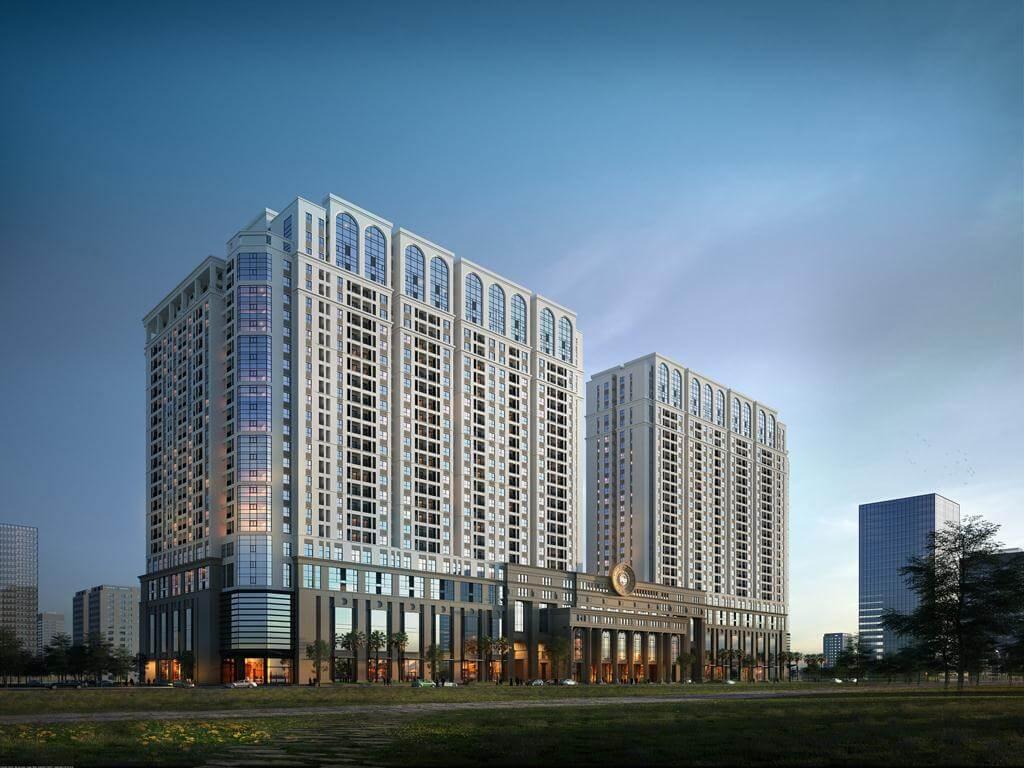 Hai tòa chung cư cao 25 tầng tại dự án chung cư Roman Plaza