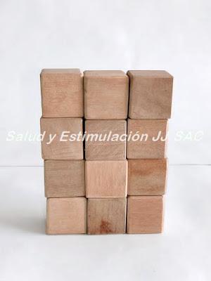 12 cubos madera