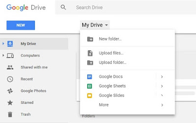 upload files at google drive