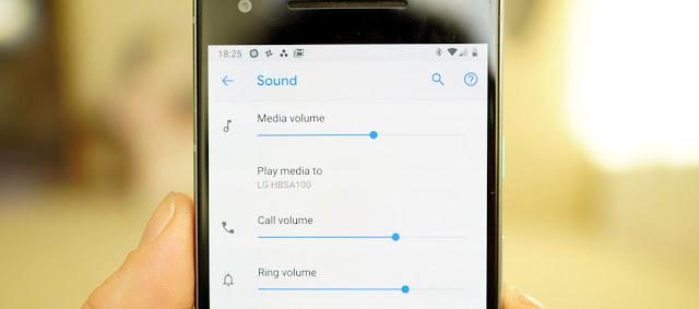Perbaikan pada penggeser volume dan rotasi layar