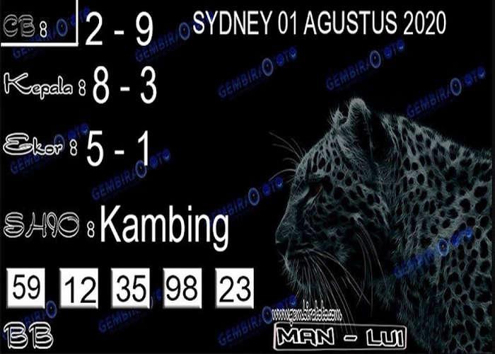 Kode syair Sydney Sabtu 1 Agustus 2020 142