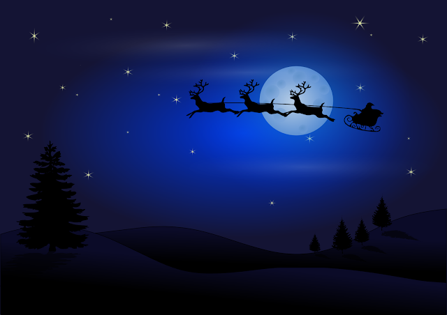 خلفيات كريسماس وعربية سانتا كلوز