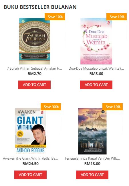Beli Buku Baru Dengan Potongan Istimewa Di Bookcafe, Kedai Buku Online