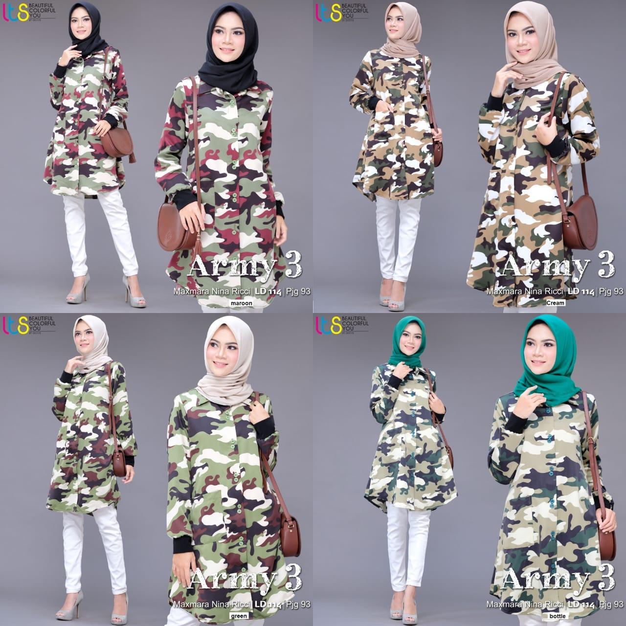 ARMY 3 TUNIK BY SHOFIYA | Melody Fashion