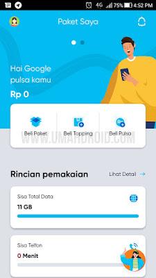 Tampilan Aplikasi By.U di HP Android