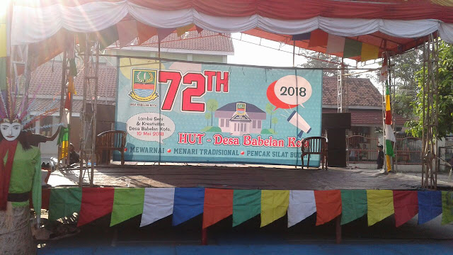 HUT Ke-72 Desa Babelan Kota Diramaikan Penari Dan Pesilat Muda