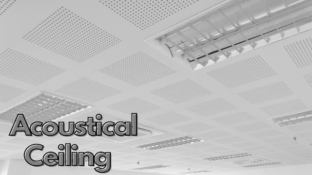 Acoustical Ceiling - Types and Options