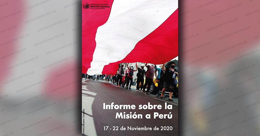 Policía peruana utilizó fuerza innecesaria y excesiva en protestas, informó la Oficina de Derechos Humanos de la ONU