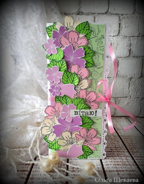 конверт,подарочный,дляденег,сцветами,весенний,цветы,скрапбукинг,