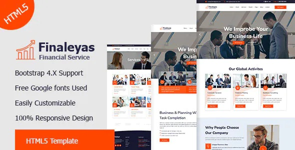 Best Corporate & Financial Business HTML5 Template