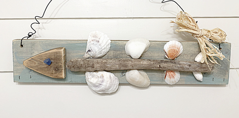 Fish Bone Art with Shells