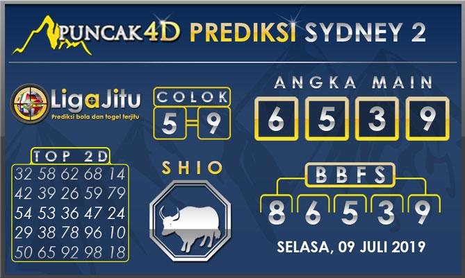 PREDIKSI TOGEL SYDNEY2 PUNCAK4D 09 JULI 2019