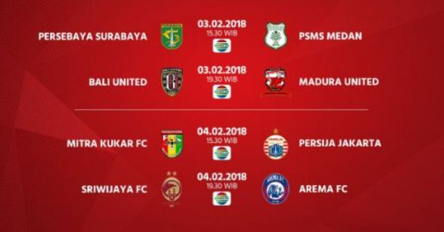 Jadwal Babak 8 Besar, Semifinal, dan Final Piala Presiden 2018