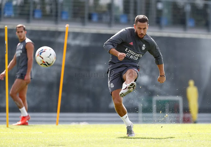 Hazard returns to Real Madrid group training as  they prepare for Betis La Liga clash