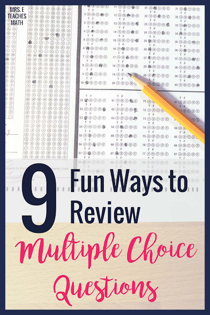 These fun activities for practicing multiple choice questions will help prep your high school students for state testing.  Check out these strategies so to keep your students engaged and focused while preparing for their end of course tests and final exams!