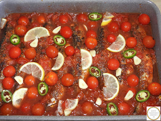 Preparare macrou la cuptor cu rosii cherry reteta,