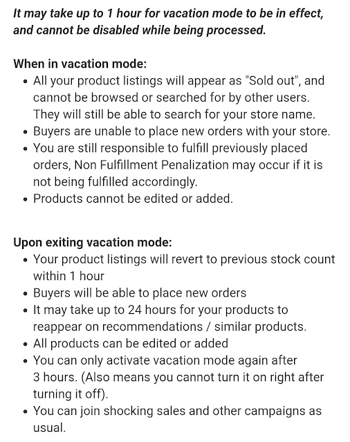 "Cara Aktifkan ""Vacation Mode"" di Shopee"