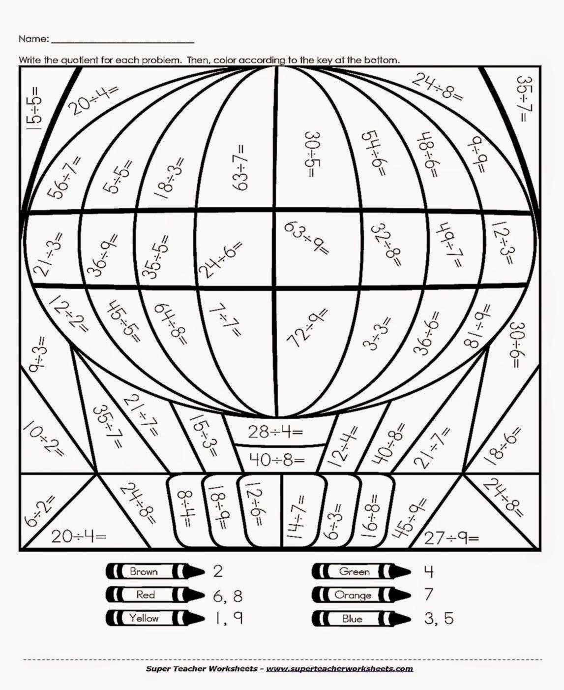 Multiplication Facts Coloring Sheets | Coloring Page