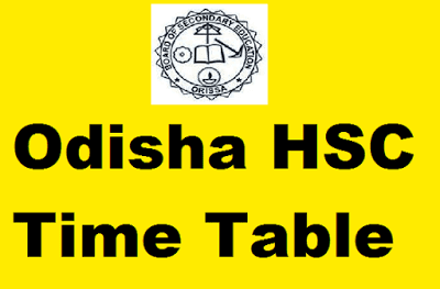 BSE Odisha HSC Time Table 2020