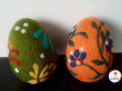 Pisanki z filcu / Felt easter egg