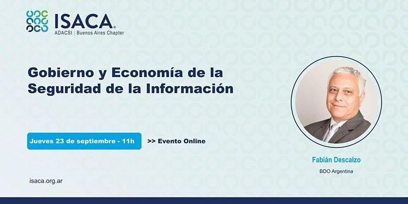 Webinar ISACA: Gobierno y Economía de la Seguridad de la Información