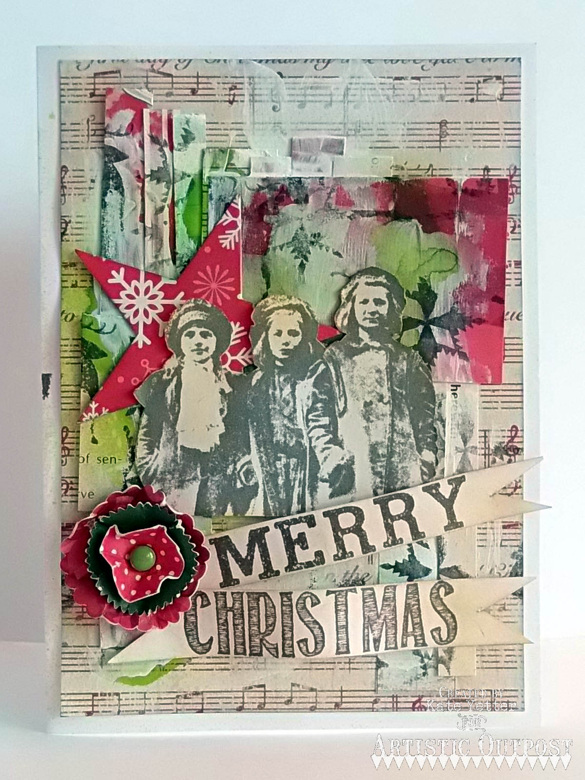 Stamps - Artistic Outpost Christmas Chalk, Paperboy