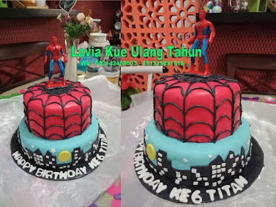 Kue Tart  Spiderman