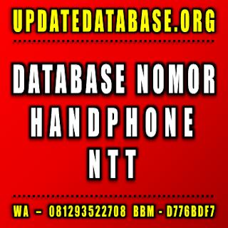 Jual Database Nomor Handphone Nusa Tenggara Timur