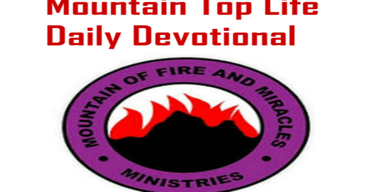 MFM Mountain Top Life Daily Devotional 18 July 2019 The Trumpet