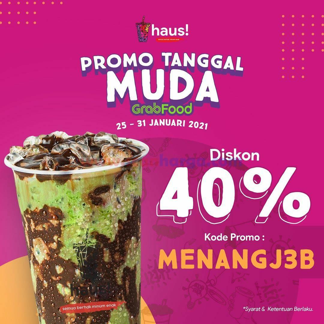 HAUS Promo Tanggal Muda Diskon 40% via GRABFOOD