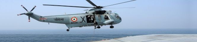 SURPRISE LANDING: Indian Navy Sea king Lands On INS Vikrant Carrier